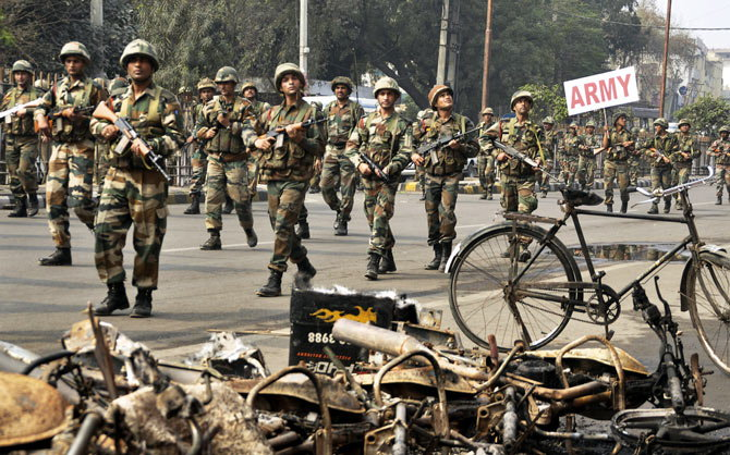Jat Agitation Committee, Delhi, Protest, Violence
