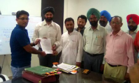 Against, Service Centers, Hoshiarpur, Memorandum, DC, Punjab