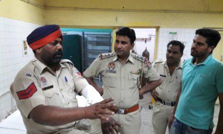 Hooliganism, Bike Rider, Injured, Head Constable, Hospital, Punjab