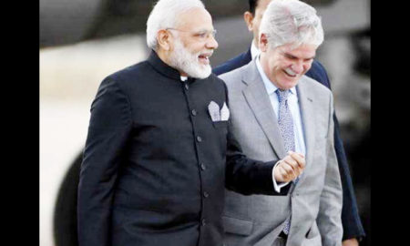 PM, Narendra Modi, Arrived, Spain, Germany, BJP, President, Mariano Razoy