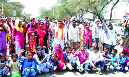 Teachers, Children, National, Highways, Strike, Raised, School