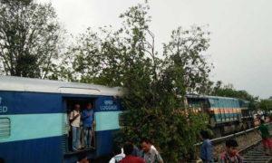 Tree, Train, Engine, Storm, Passenger Hassle, Rajasthan