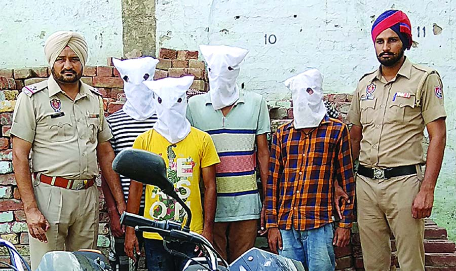 Four, Accused, Robbery Arrested, Absconding