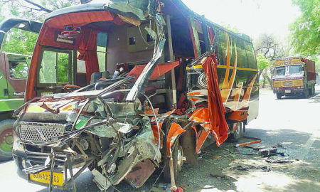 Accident, Bus, Truck, Injured, Hospital, Treatment