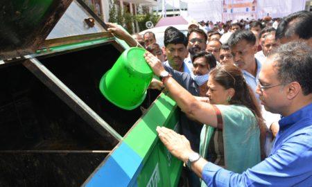 Vasundhara Raje, Focus, Cleanliness, Campaign, Dustbin, Healthy, Rajasthan