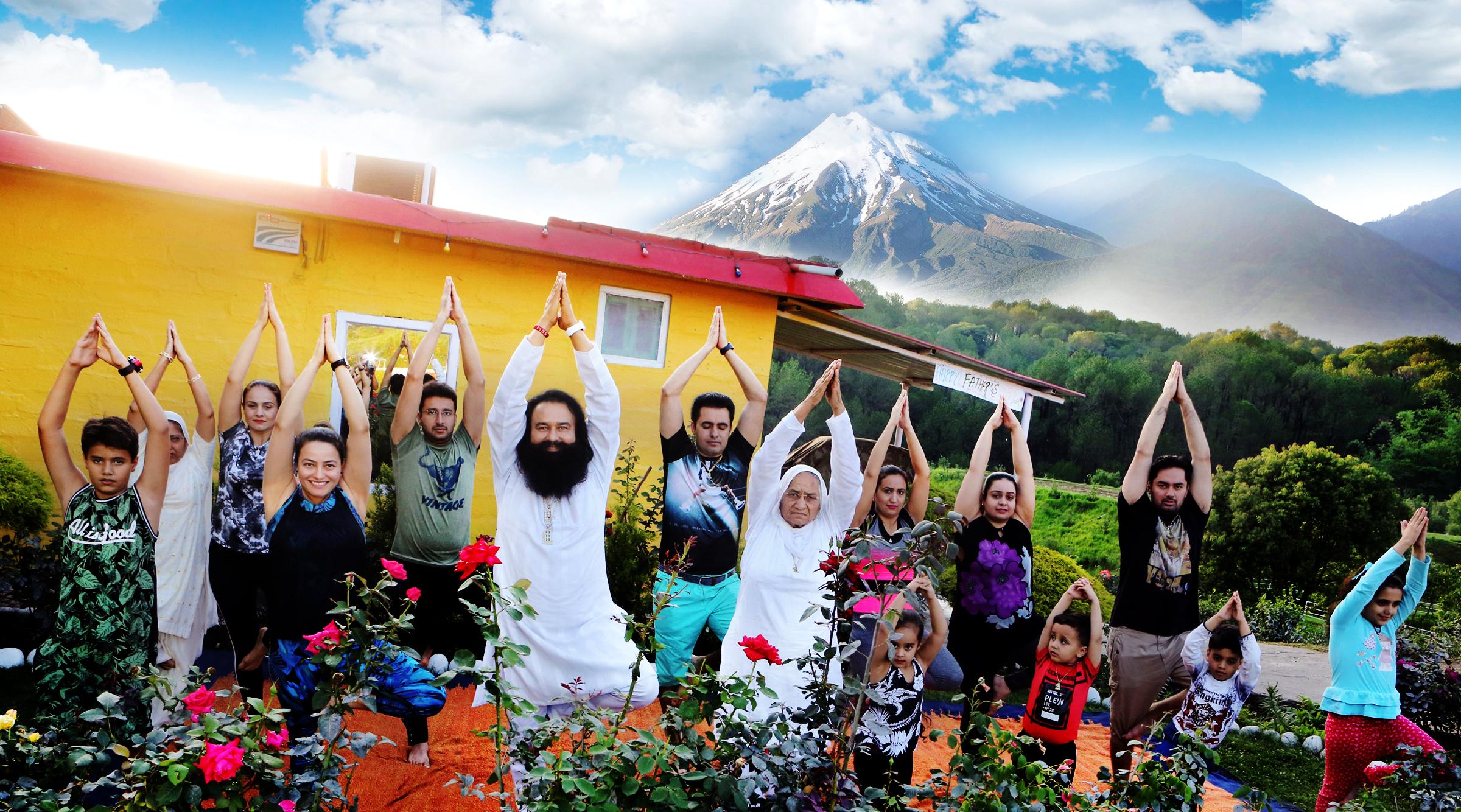 Yoga Day, Gurmeet Ram Rahim, Narendra Modi, Health, HoneyPreet Insan