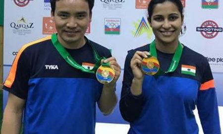 Jitu Rai, Heena Sidhu, Won, Gold, Mixed Team, ISSF