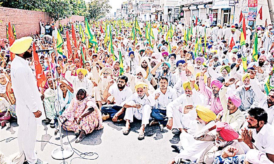 Farmers, Protest, Deputy Commissioner, Office, Raised, Strike