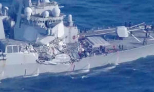 Japan, American Navy Ship, Philippines Ship Collide, Damaged