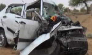 Dead, Tanker, Car, Collision, Family, Injured, Rajasthan