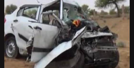 Dead, Tanker, Car, Collision, Family, Injured, Rajasthan