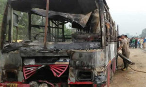 Road Accident, UP, Bareilly, Fire