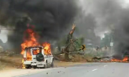 Anandpal Encounter Case, Fire, Car, Police, Rajasthan