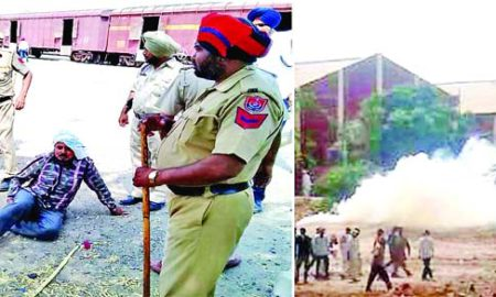 Lathi Charges, FCI, Workers, Strike, Raised, Congress, Leaders, Punjab