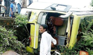 Road Accident, Death, Injured, Bus, Bike, Pilgrims