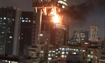 Fire, Floor, Antilia, Reliance Industries, Mukesh Ambani, Mumbai