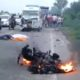 Death, Accident, Bike, Fire, Punjab
