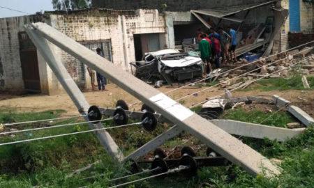 Death, Unbalanced Car, Driver, Woman, Haryana