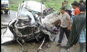 Death, Truck, Car, Bike, Injured, Accident, Rajasthan