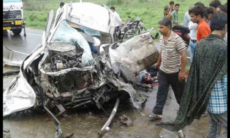 Death, Truck, Car, Bike, Injured, Accident, Rajasthan