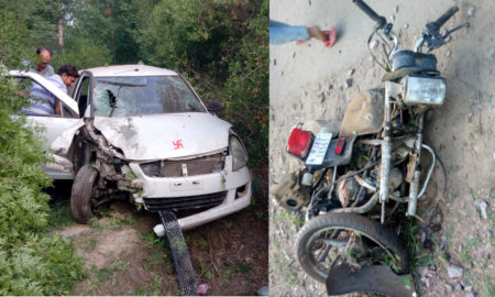 Accident, Bike, Car, Collision, Rajasthan