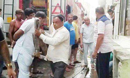 Fire, Shop, Loss, Millions, Godown, Haryana