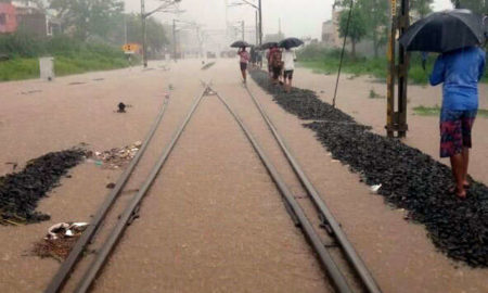Heavy Rain, Railway Track, Traffic Affected, Weather, Rajasthan