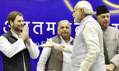 Narendra Modi, Rahul Gandhi, Conversation, Parliament House
