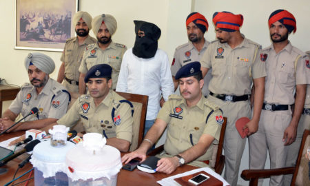 Bank Robber, Arrested, Police, Pistol, Recovered, Punjab
