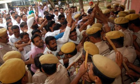 Agitation, Lawyers, Clash, Policemen, Angry, Rajasthan