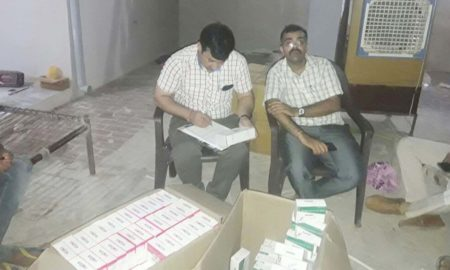 Raid, Medical Store, Health Department, Intoxicated Pills, Haryana