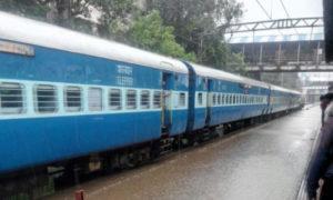 Rail Traffic, Stop, Rain, Damaged, Train