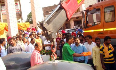 Preneet Kaur, Inaugurated, Pilot Project, Dustbin, Punjab