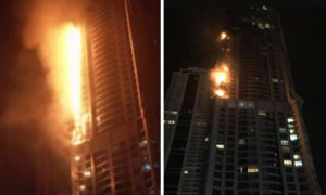 Building, Fire, Torch Tower, Dubai