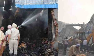 Fire, Cardboard, Factory, Lose, Punjab