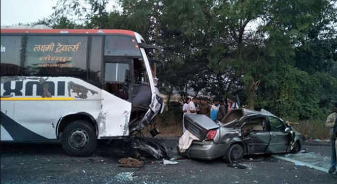 Road Accident, Died, Car, Bus, Injured, Rajasthan
