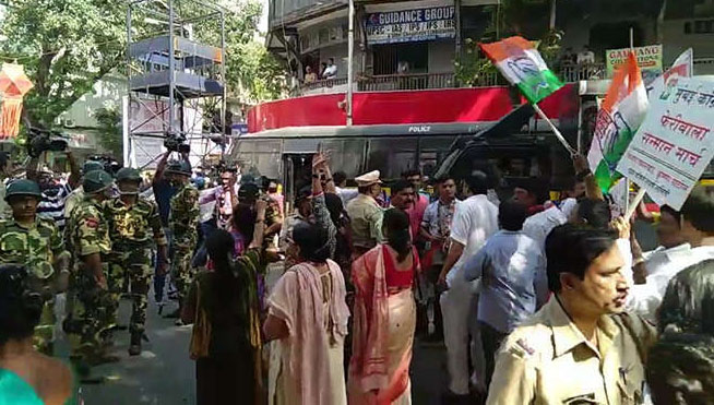 MNS, Attack, Congress, Hawkers, Mumbai, Protest
