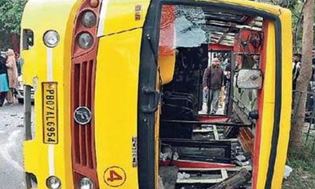 Road Accident, School Bus, Students, Teachers, Injured
