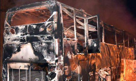 Fire, Myanmar, Migrant Workers, Bus, Thailand