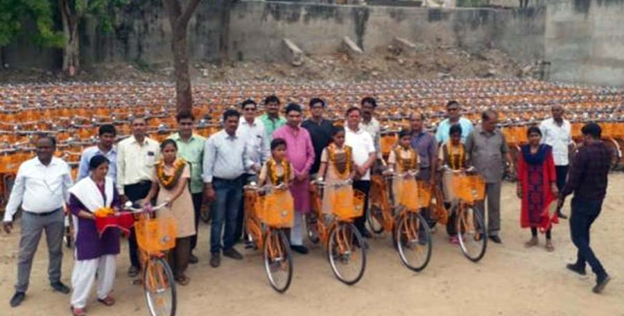 Rajasthan Government, Bicycle, School Children