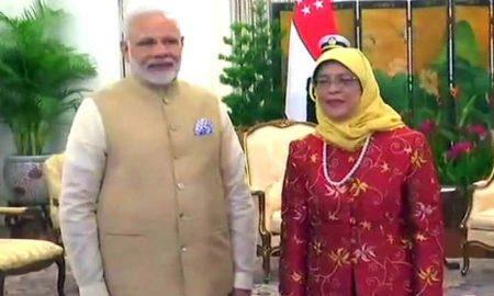 Narendra Modi, Singapore, Visit