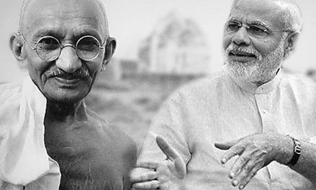 Gandhi'sKkhadi, Found,Modi's Support