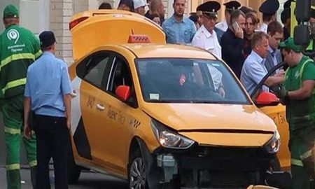 Russia, Taxi, Crowd, Moscow, Injured