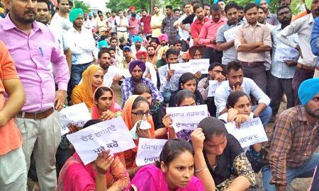 TET Teachers, Protest, Singla's Residence, Punjab