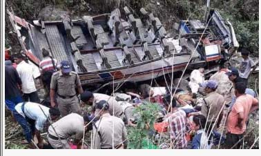Uttarakhand, Bus, Collapse, Kills, 45 people