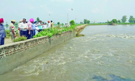 Dr Amar Singh, DC Visited, Areas, Affected Water, Punjab