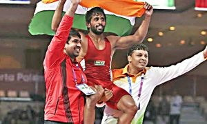 Asiad Wrestler, Bajrang Punia, Earned, First, Gold