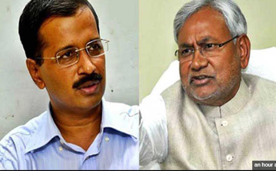 Nitish Kumar, Seeks, Support, Kejriwal, Vice President