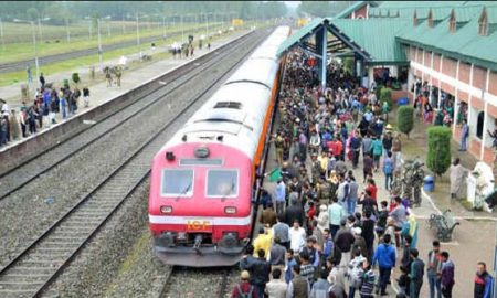 Train service restored in Kashmir