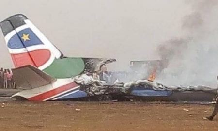 South, Sudan, Airplane, Crash, incident, six, die
